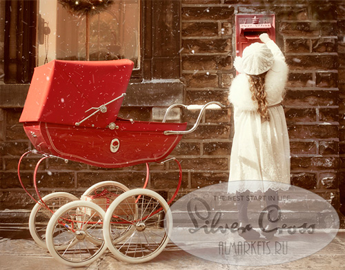 Коляска для кукол Silver Cross Chatsworth Dolls Prams на улице
